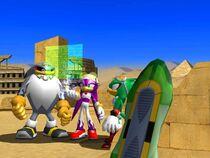 Los Babylon Rogues leyendo el diario de Eggman