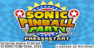 Sonic Pinball Party title