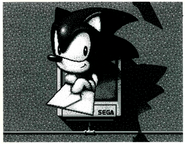 Sonic giving you a letter