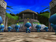 Chao in front of altar