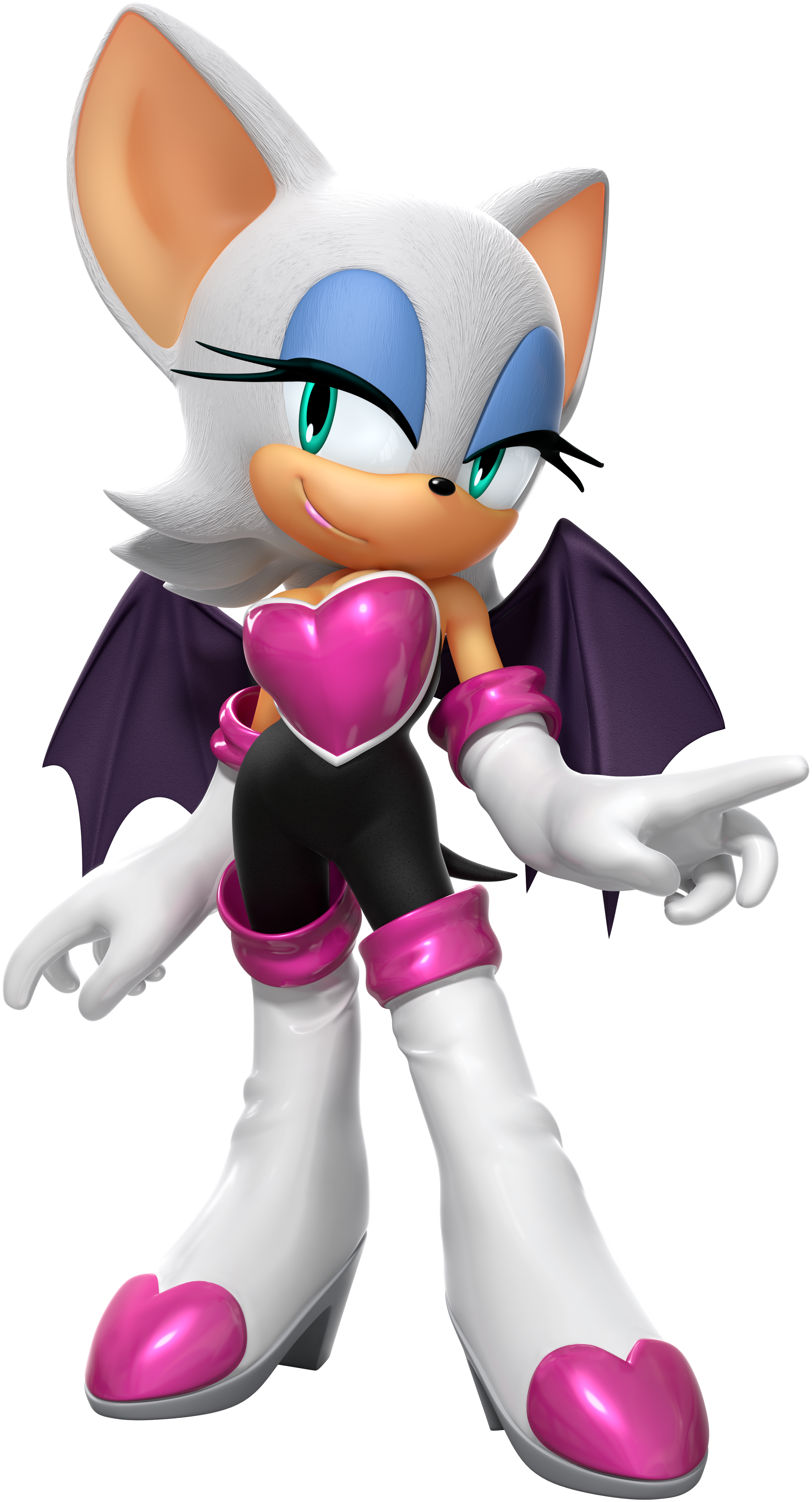 how to draw rouge from sonic