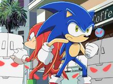 Sonic i Knuckles walka ep 43