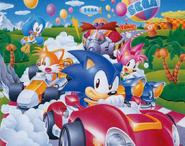 Sonic Drift JP promo art