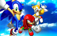 Sonic Heroes title 1