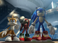 Team Sonic in Future City (CGI)