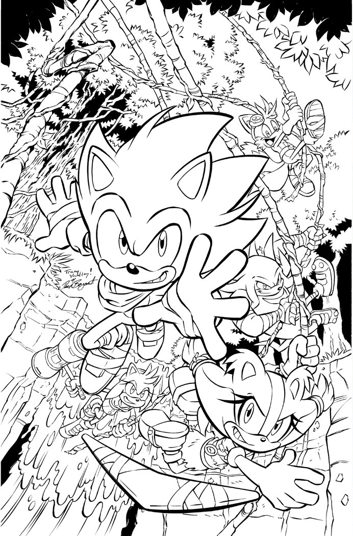 All sonic characters coloring pages ~ Image - Sonicboom 04 cover no color.jpg | Sonic News ...