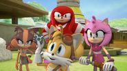 Tails holding a chip