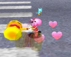 Amy realizando el Spin Hammer Attack