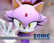Blaze the Cat Sonic 2006 wallpaper