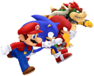 Mario, Sonic, Knuckles & Bowser (Mario & Sonic 2012)