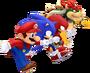 Mario, Sonic, Knuckles & Bowser (Mario & Sonic 2012)