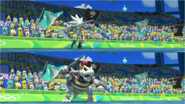 Mario & Sonic at the Rio 2016 Olympic Games - Silver VS Dry Bowser Javelin Throw