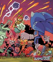 IDW 28 Sonic vs Zombots