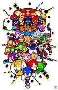 Sonic sprite artwork