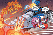 IDW 15 Amy i Sonic vs tank
