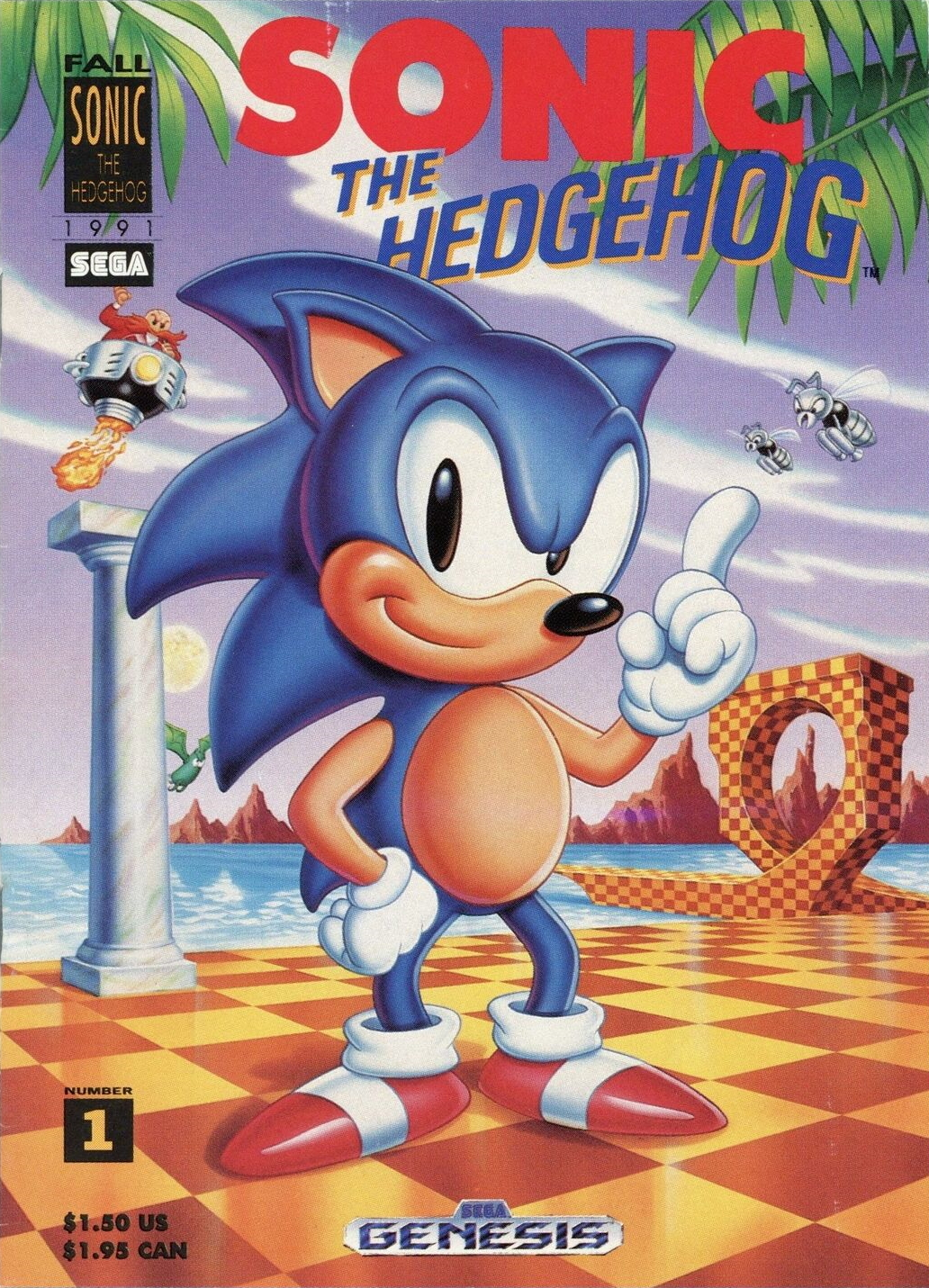 Image result for Sonic The Hedgehog 1991 poster