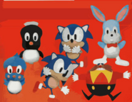 Sonic 1 UFO plushies Japan