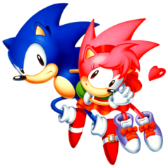 Sonic cd sonic y amy