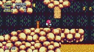 Sonic Mania Knuckles Lava Reef Zone Act 1 & 2