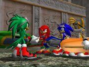 Sonic le entrega la llave a Jet