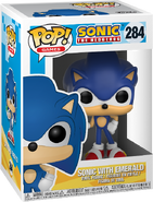 Sonic with Emerald box Pop Games
