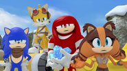 S2E20 Sonic Tails Knuckles Sticks