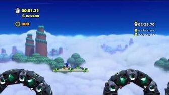 Sonic Lost World - Wii U - Sky Road Zone 2 and Zavok Boss Battle-0