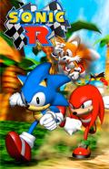 Sonic R cover artwork light blue
