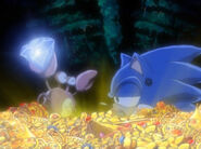 Sonic and crabmeat