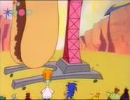 O maior lançador de salsicha do mundo - O gigantismo do Tails