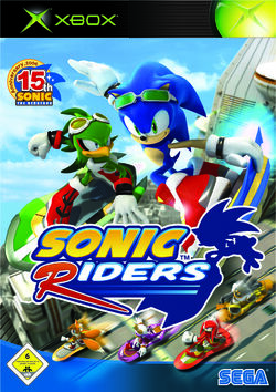 SONIC Riders xbx de cover