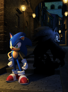 Sonic Unleashed Artwork - Sonic The Hedgehog And Sonic The Werehog (Spagonia)
