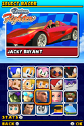 Sonic and Sega All Stars Racing DS character select 13