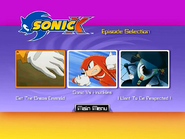 Sonic X Volume 2 AUS episode select