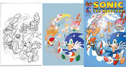 Sonic the hedgehog 279 variant cover flats by floresjessica-d989h8k