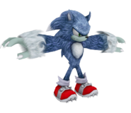 Sonic the Werehog model WiiPS2