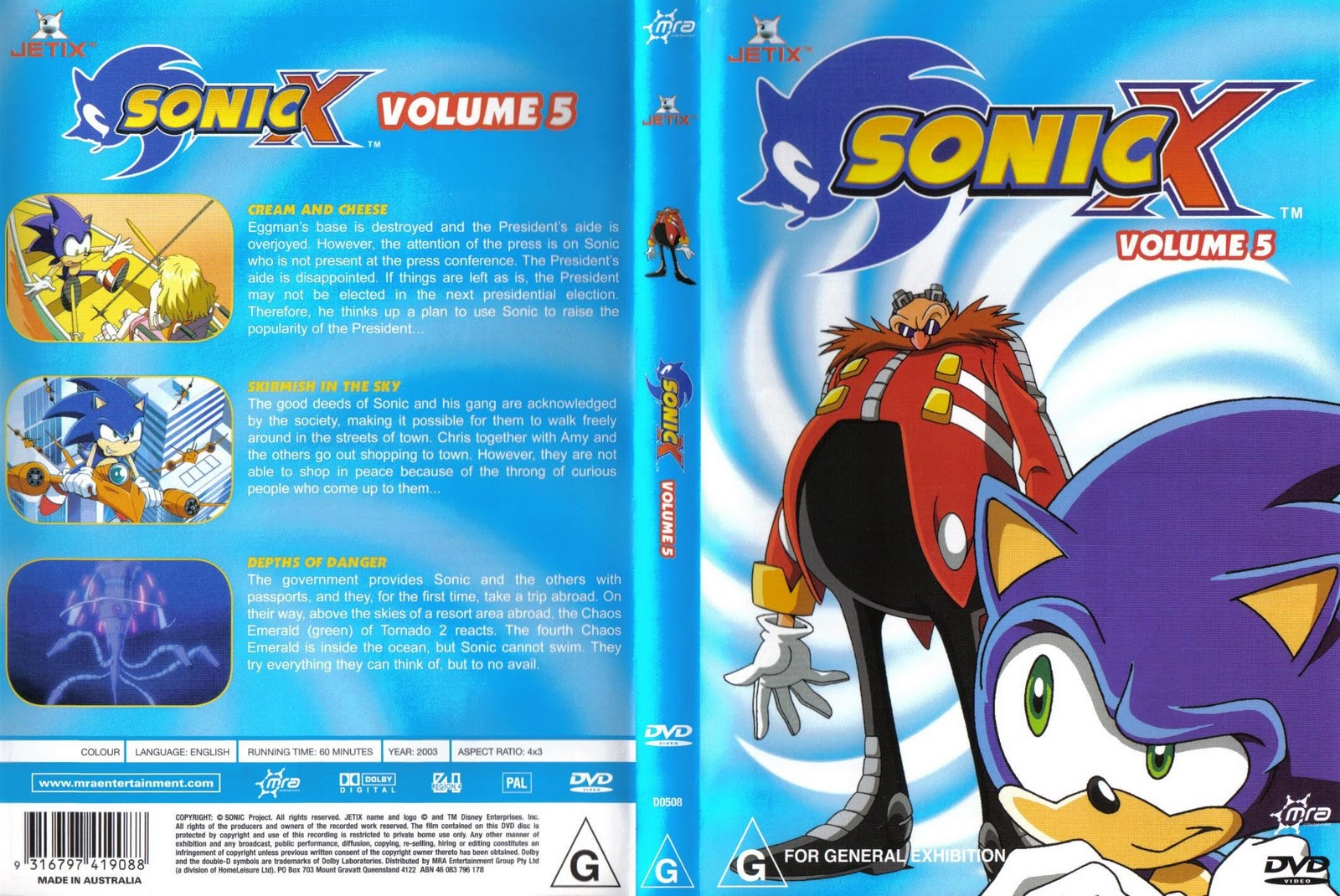 Fotos Do Sonic X for image - sonic x volume 5 aus cover | sonic news network