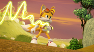Tails using his enerbeam