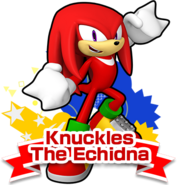 Knuckles Sonic Runners art