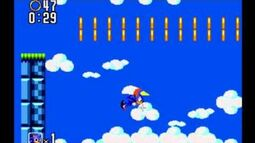 Sky High Glitch in Sonic The Hedgehog 2 - Master System