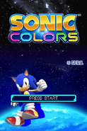 Sonic Colors DS title screen