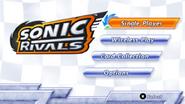 Sonic Rivals menu 1