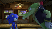 Sonic and Vector argue
