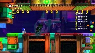 Sonic Lost World - Wii U - Frozen Factory Zone 4 and Zeena Boss Battle