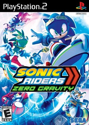 Sonic Riders Zero Gravity - North-american cover for PS2