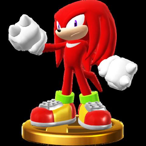 File:Knuckles trophy pose (Super Smash Bros. Wii U).png