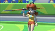 Mario & Sonic at the Rio 2016 Olympic Games - Daisy Javelin Throw