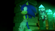 Sonic and Chip inside temple