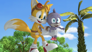 Tails holding Chumley