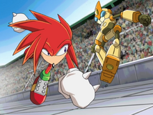 Knuckles vs Emerl 1 ep 46